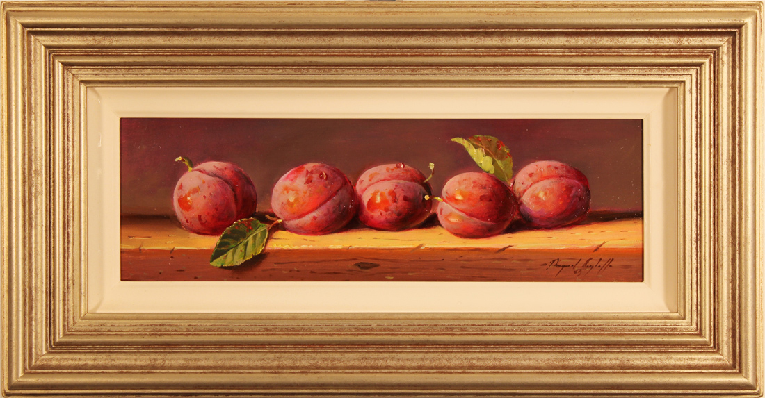 Paul Wilson, Original oil painting on panel, Plums. Click to enlarge