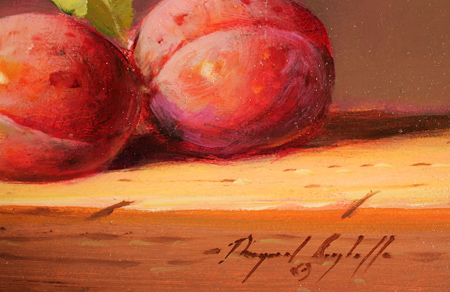 Paul Wilson, Original oil painting on panel, Plums Signature image. Click to enlarge