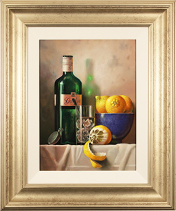 Raymond Campbell, Original oil painting on panel, Gin and Tonic Time