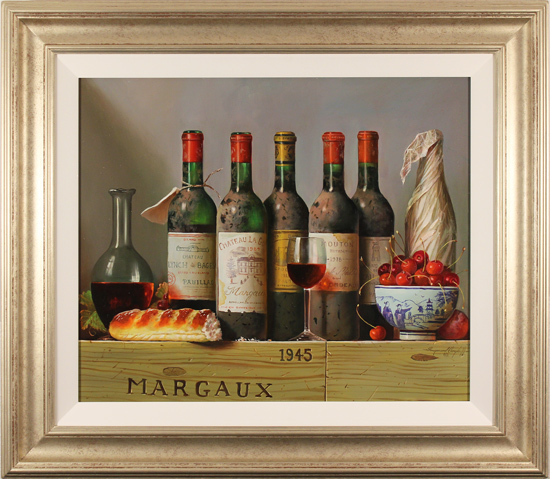 Raymond Campbell, Original oil painting on panel, The Vintner's Finest