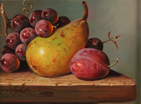 Raymond Campbell, Original oil painting on panel, A Fruitful Composition