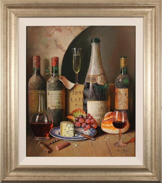 Raymond Campbell, Original oil painting on panel, Cellar Celebrations