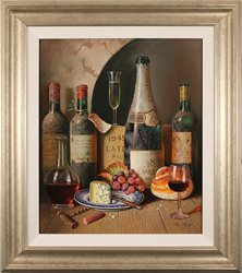 Raymond Campbell, Original oil painting on panel, Cellar Celebrations Large image. Click to enlarge