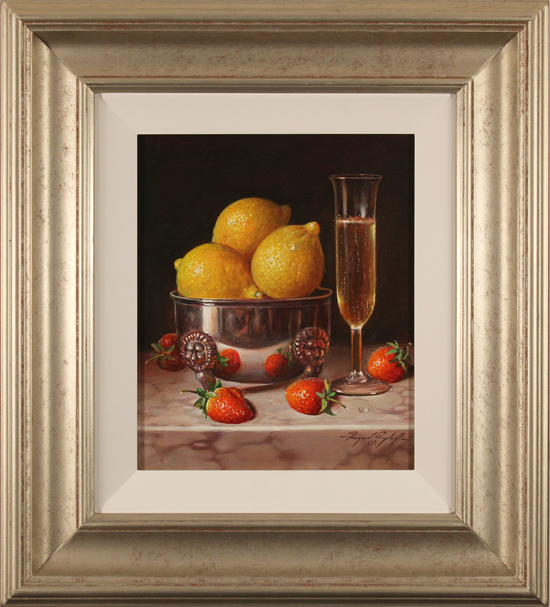 Raymond Campbell, Original oil painting on panel, Pleasure for the Palate
