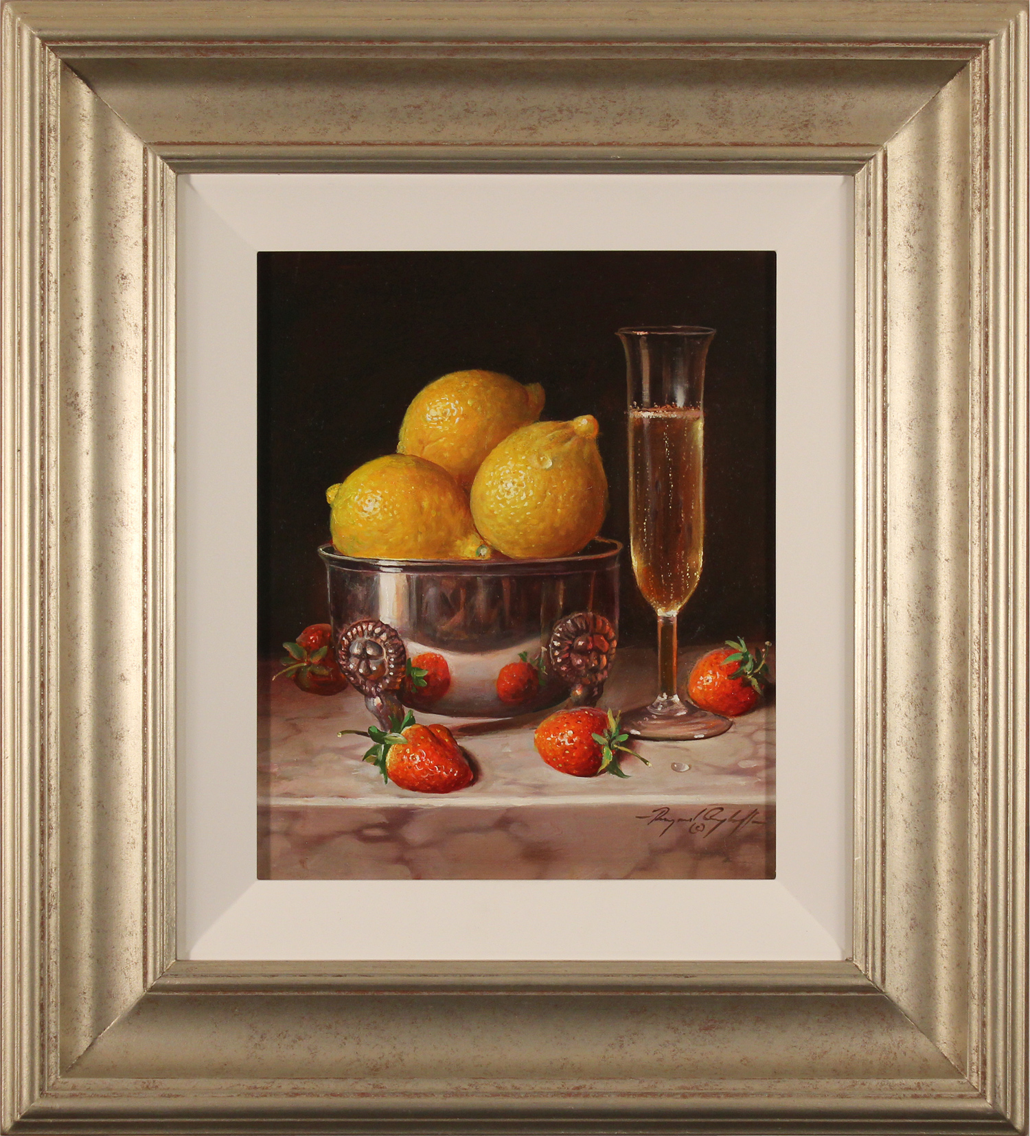 Raymond Campbell, Original oil painting on panel, Pleasure for the Palate, click to enlarge