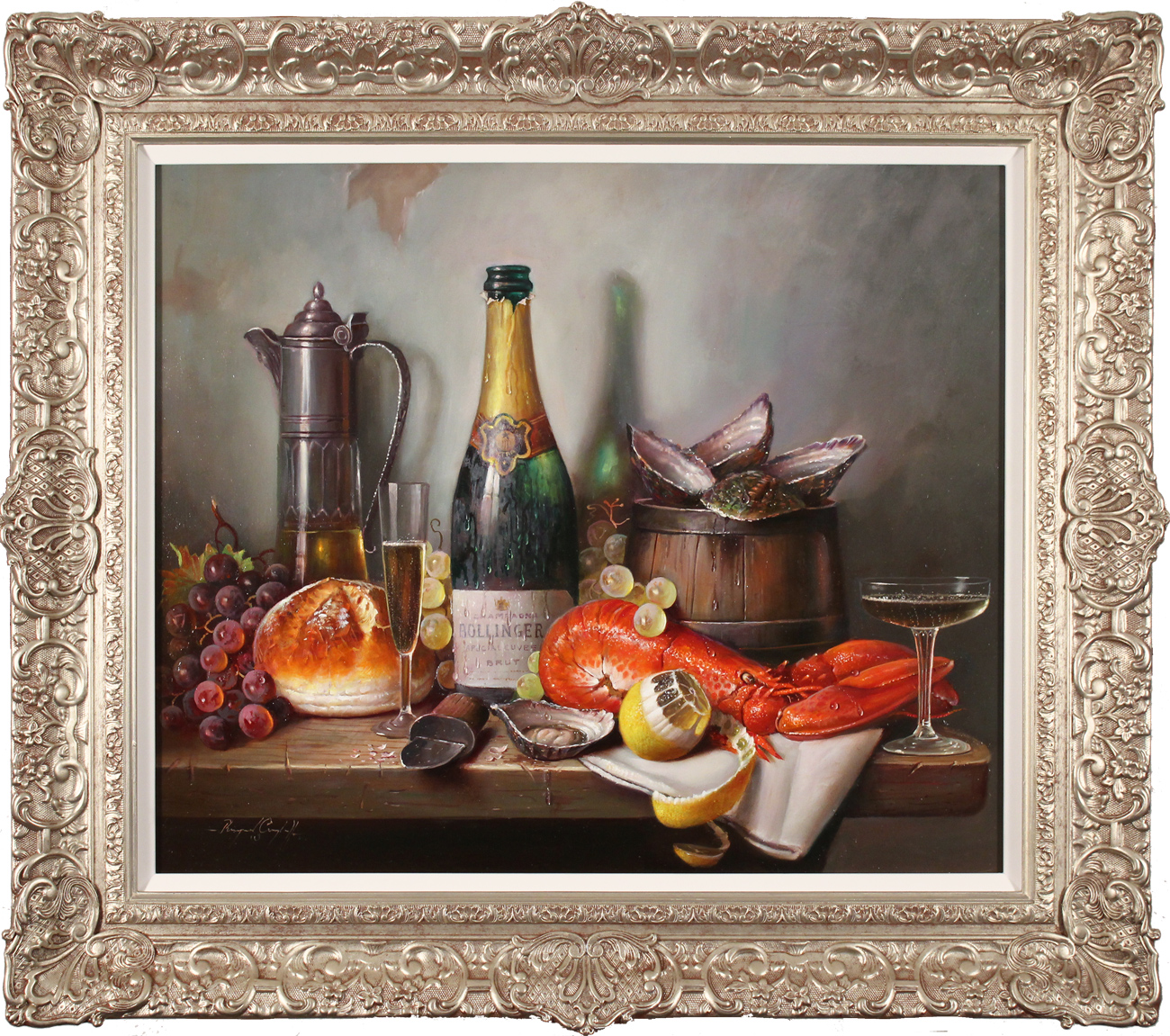 Raymond Campbell, Original oil painting on panel, A Special Occasion, click to enlarge