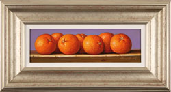 Raymond Campbell, Original oil painting on panel, Clementines