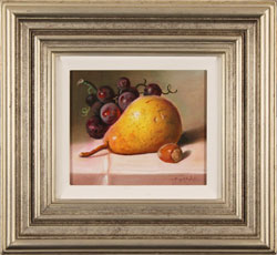 Raymond Campbell, Original oil painting on panel, Fruit to Start  Large image. Click to enlarge