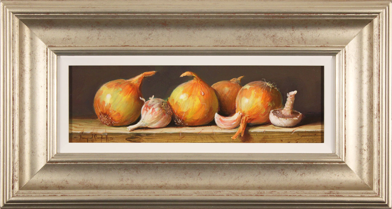 Raymond Campbell, Original oil painting on panel, Onions, click to enlarge