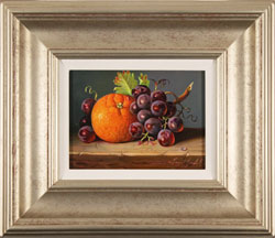 Raymond Campbell, Original oil painting on panel, Fruit Selection