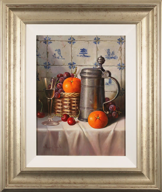 Raymond Campbell, Original oil painting on panel, Pewter Tankard