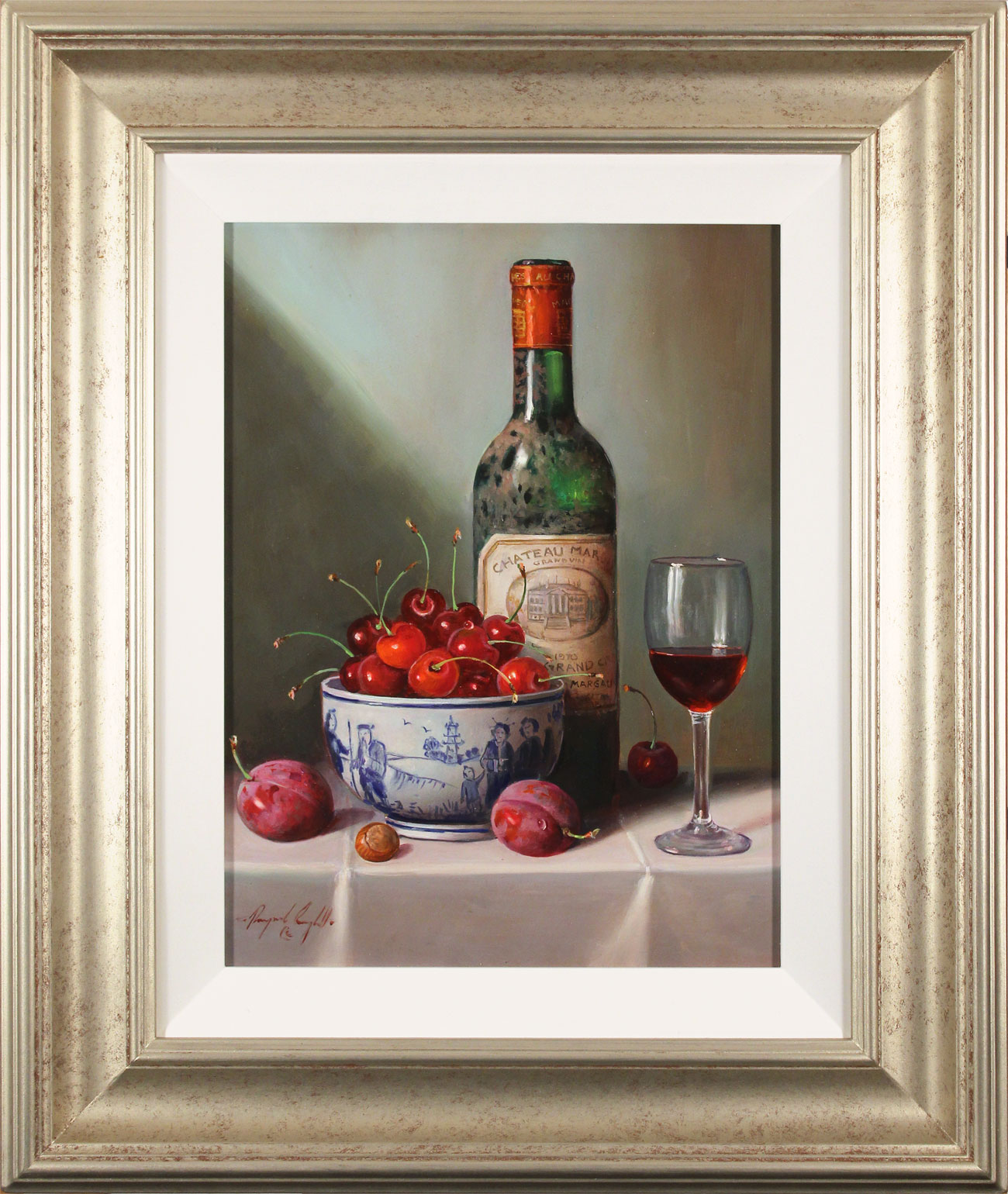 Raymond Campbell, Original oil painting on panel, Notes of Cherry and Plum. Click to enlarge