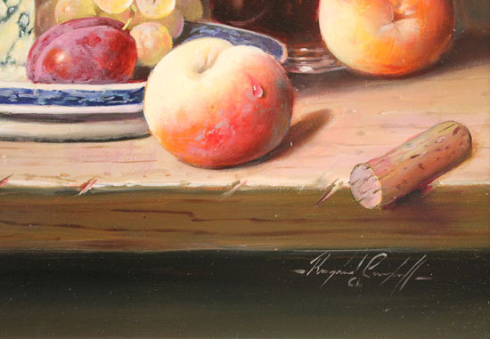 Raymond Campbell, Original oil painting on panel, A Fine Selection Signature image. Click to enlarge
