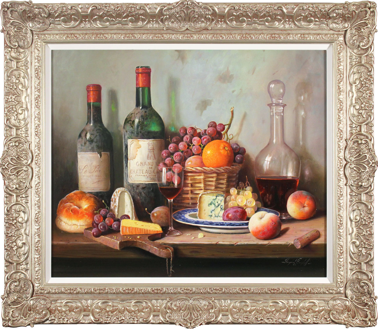 Raymond Campbell, Original oil painting on panel, A Fine Selection. Click to enlarge
