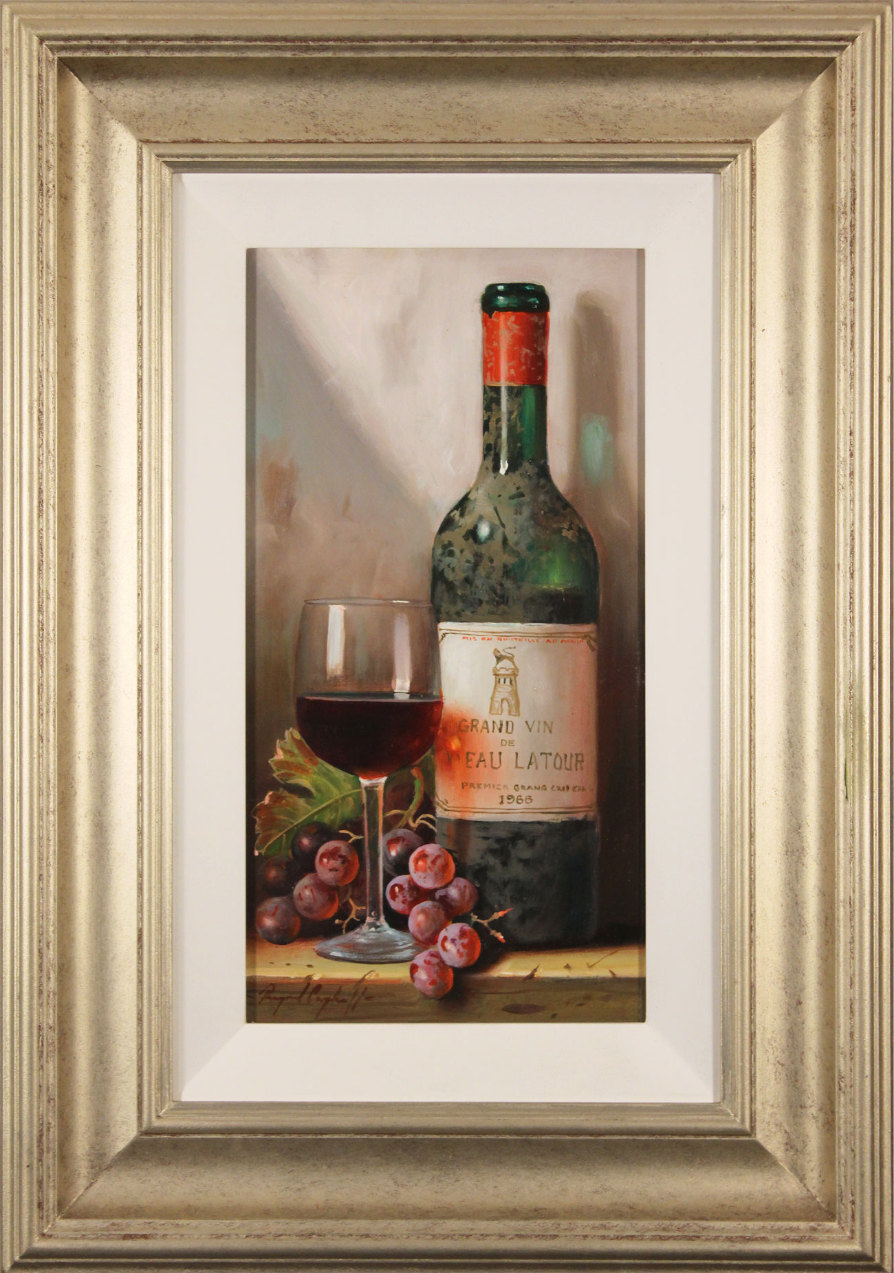 Raymond Campbell, Original oil painting on panel, Chateau Latour, 1966