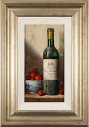 Raymond Campbell, Original oil painting on panel, Chateau Haut Batailley, 1985