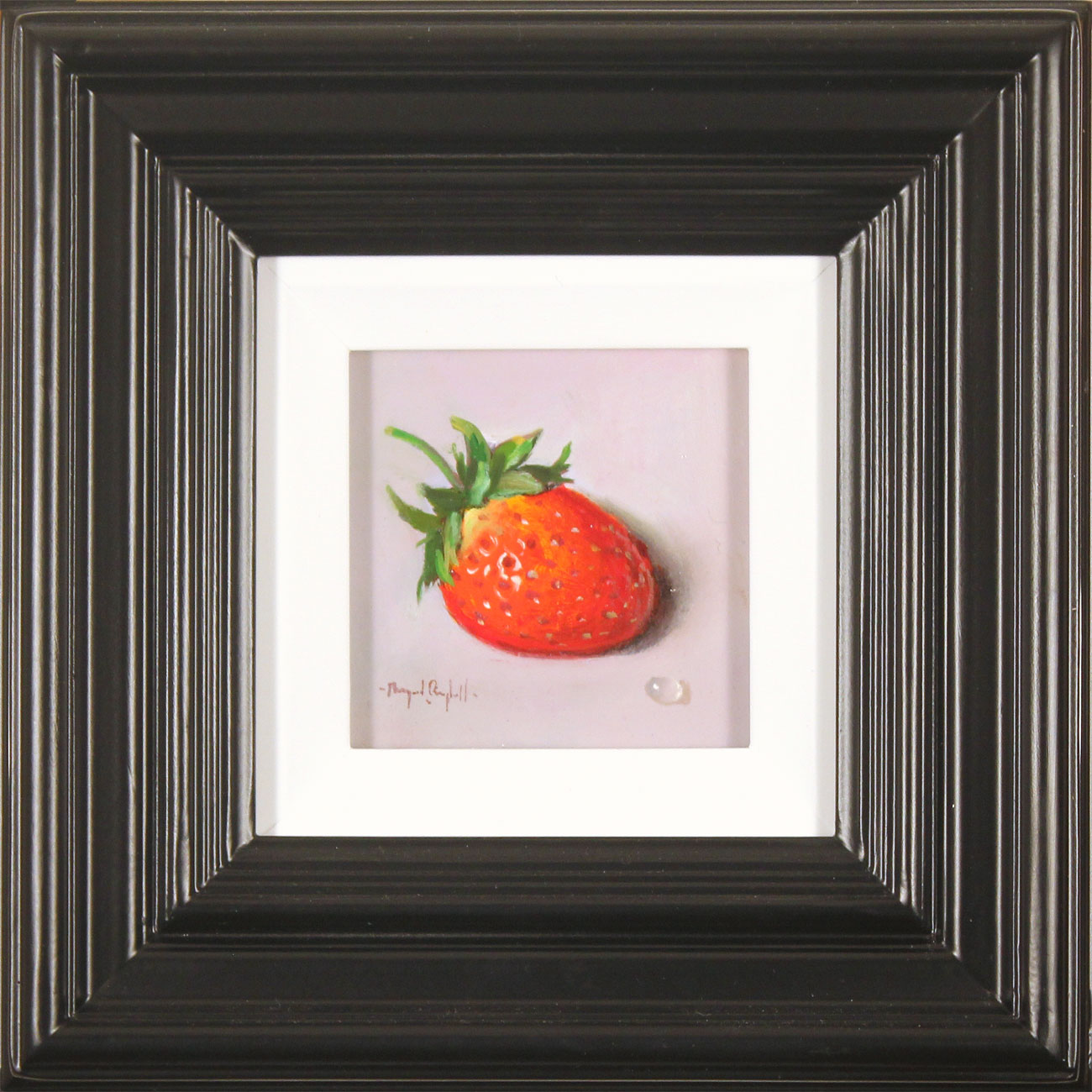 Raymond Campbell, Original oil painting on panel, Strawberry . Click to enlarge