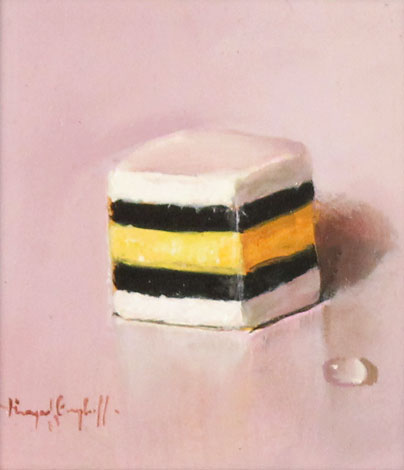Raymond Campbell, Original oil painting on panel, Liquorice Allsort
