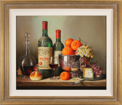 Raymond Campbell, Original oil painting on panel, An Elegant Selection