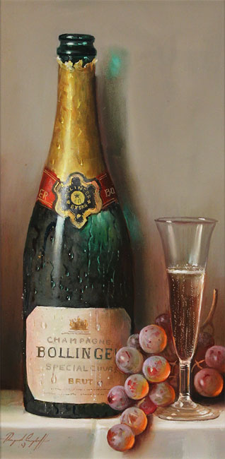 Raymond Campbell, Original oil painting on panel, Bollinger Bounty No frame image. Click to enlarge
