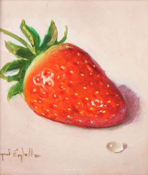 Raymond Campbell, Original oil painting on panel, Strawberry No frame image. Click to enlarge