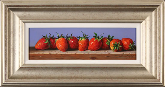 Raymond Campbell, Original oil painting on panel, Strawberries