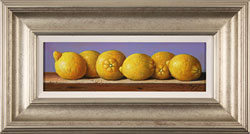 Raymond Campbell, Original oil painting on panel, Lemons Large image. Click to enlarge