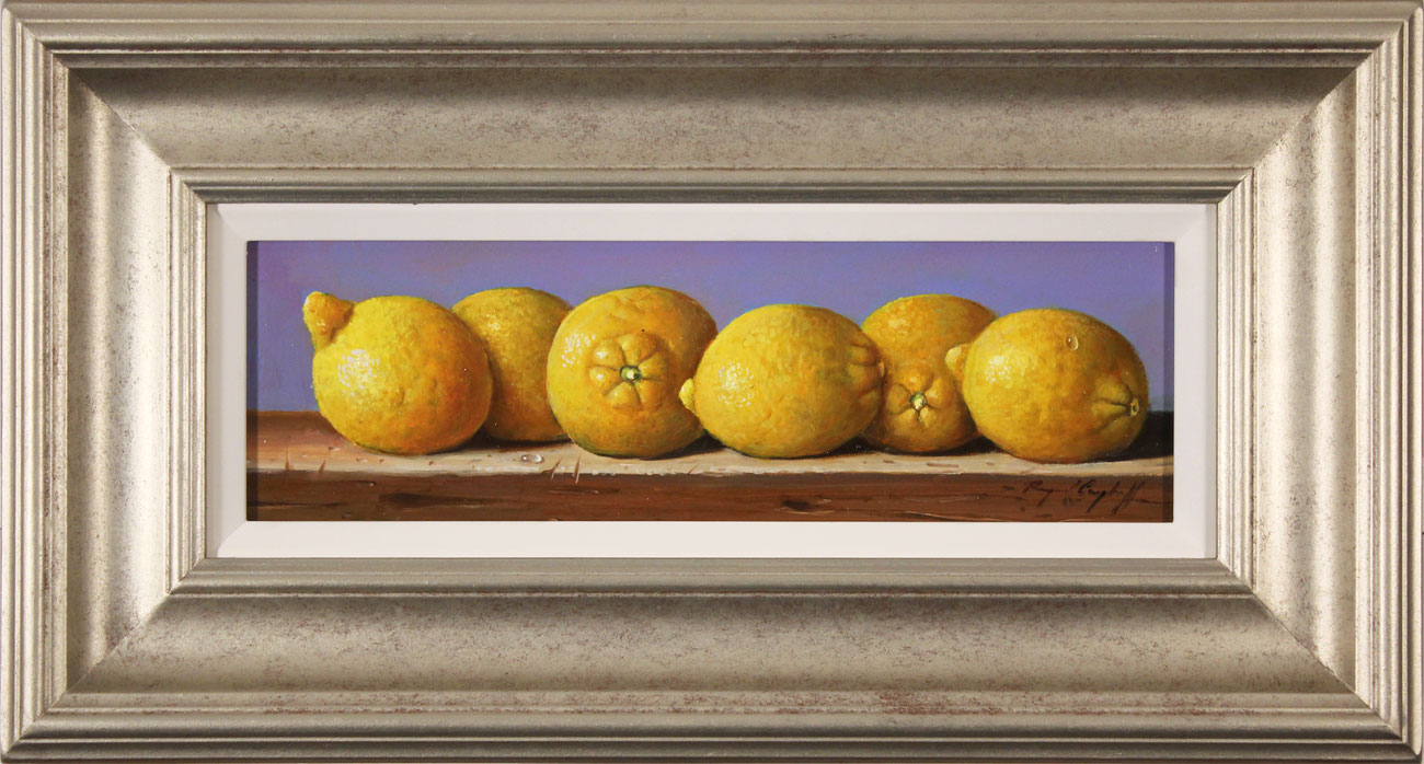 Raymond Campbell, Original oil painting on panel, Lemons, click to enlarge