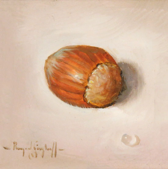 Raymond Campbell, Original oil painting on panel, Hazelnut Without frame image. Click to enlarge