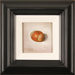 Raymond Campbell, Original oil painting on panel, Hazelnut
