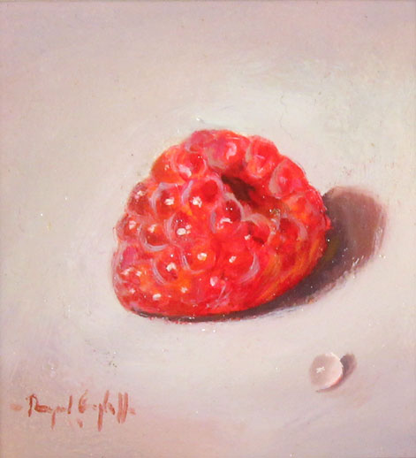 Raymond Campbell, Original oil painting on panel, Raspberry No frame image. Click to enlarge