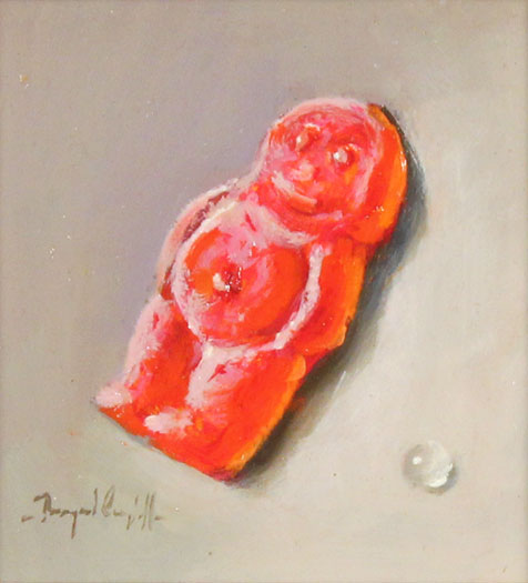 Raymond Campbell, Original oil painting on panel, Jelly Baby Without frame image. Click to enlarge