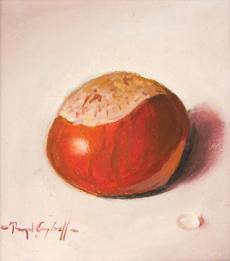 Raymond Campbell, Original oil painting on panel, Conker No frame image. Click to enlarge