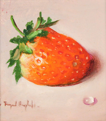 Raymond Campbell, Original oil painting on panel, Strawberry Without frame image. Click to enlarge