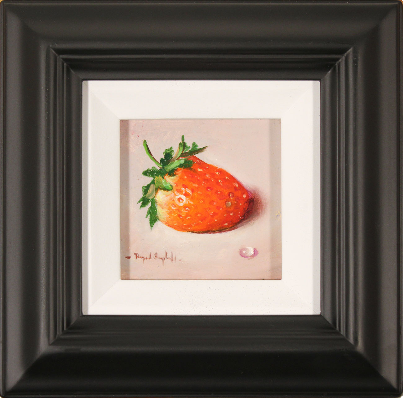 Raymond Campbell, Original oil painting on panel, Strawberry. Click to enlarge
