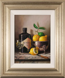 Raymond Campbell, Original oil painting on panel, Gin and Tonic Large image. Click to enlarge