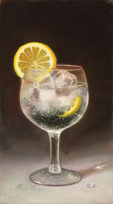 Raymond Campbell, Original oil painting on panel, Ice and Slice Without frame image. Click to enlarge