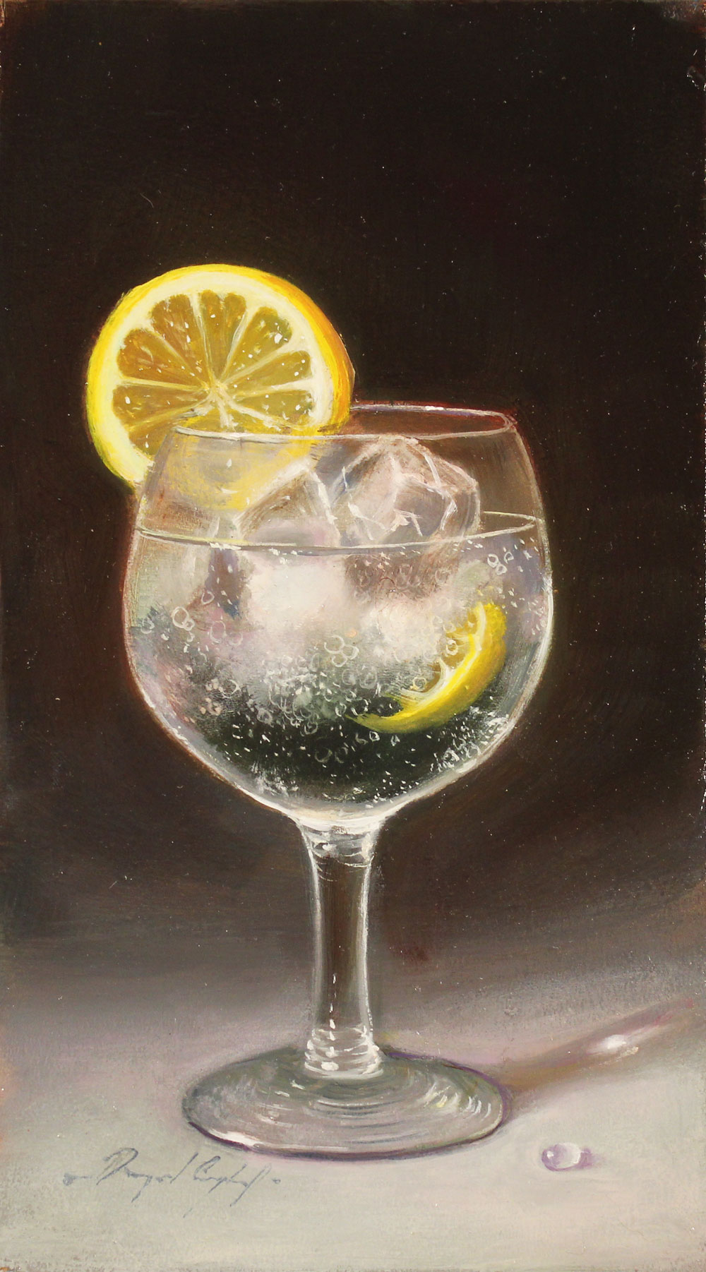 Raymond Campbell, Original oil painting on panel, Ice and Slice. Click to enlarge