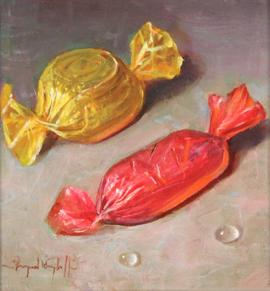 Raymond Campbell, Original oil painting on panel, Quality Streets Without frame image. Click to enlarge