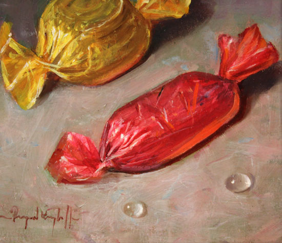 Raymond Campbell, Original oil painting on panel, Quality Streets Signature image. Click to enlarge