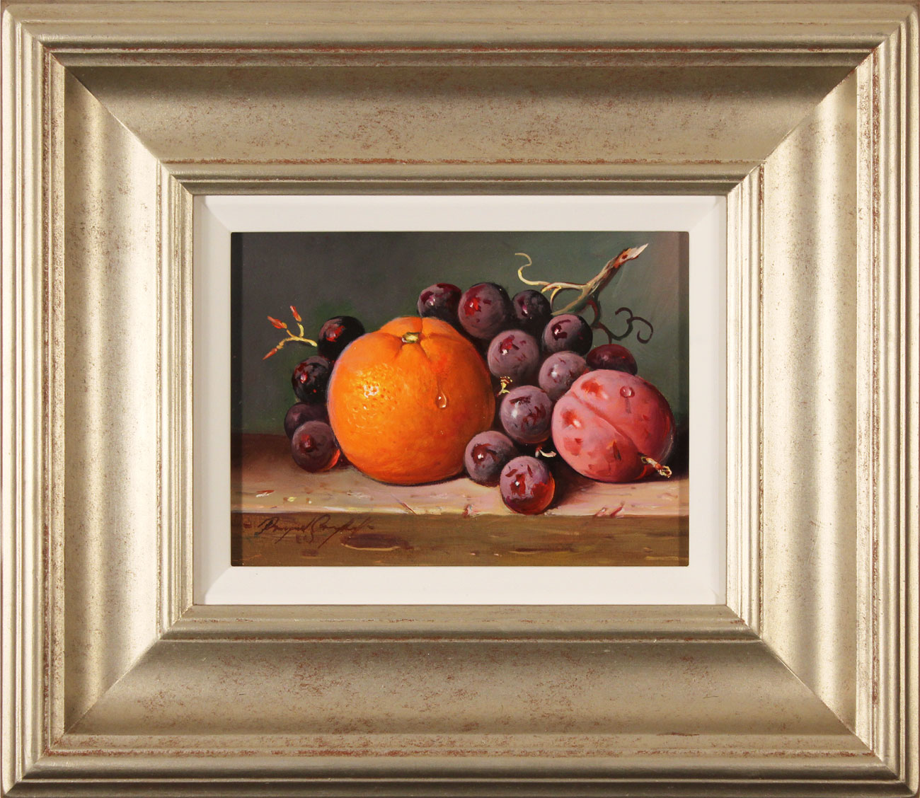 Raymond Campbell, Original oil painting on panel, Mixed Fruit. Click to enlarge