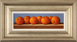 Raymond Campbell, Original oil painting on panel, Oranges