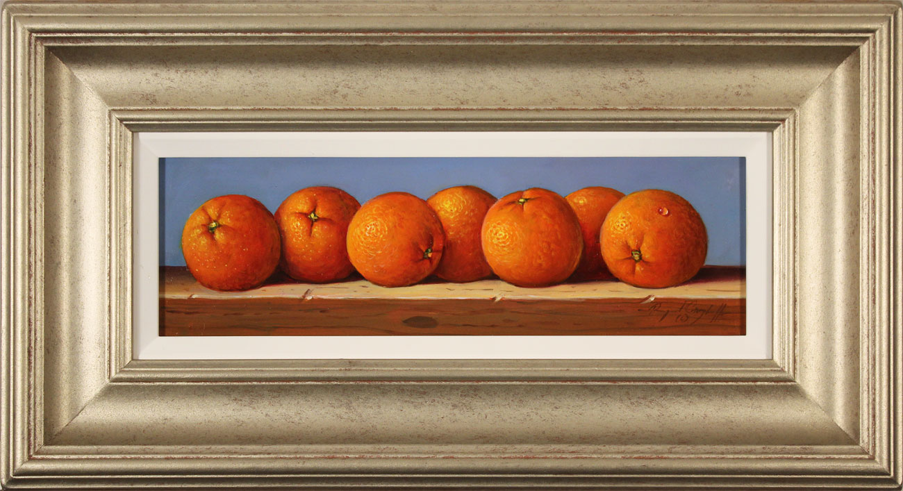 Raymond Campbell, Original oil painting on panel, Oranges, click to enlarge