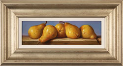 Raymond Campbell, Original oil painting on panel, Pears