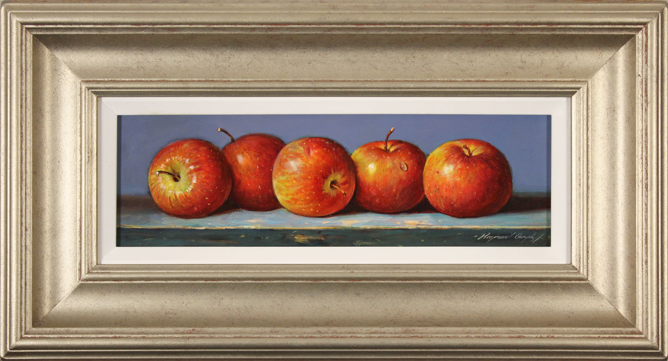 Raymond Campbell, Original oil painting on panel, Apples, click to enlarge