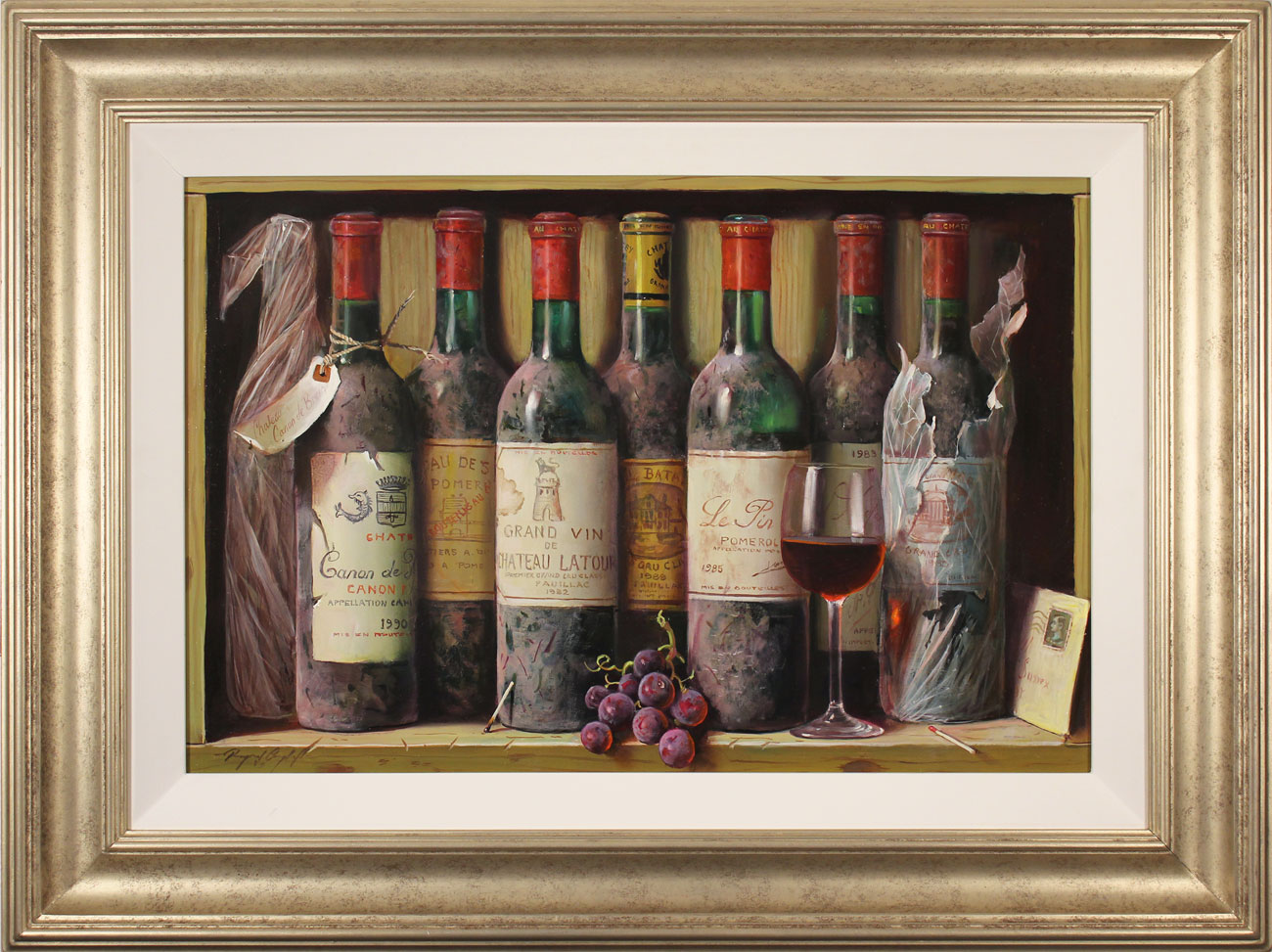 Raymond Campbell, Original oil painting on panel, Cellar Favourites, click to enlarge