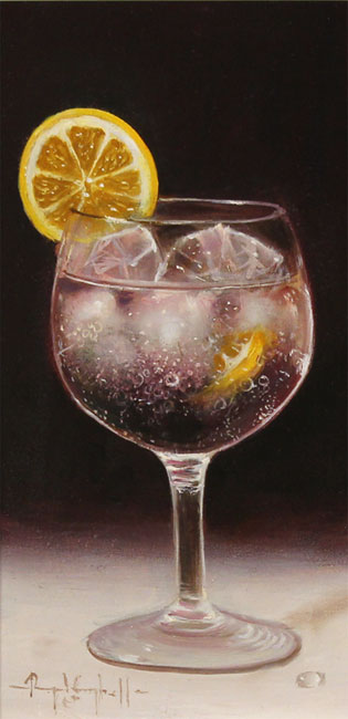 Raymond Campbell, Original oil painting on panel, Slice of Lemon Without frame image. Click to enlarge