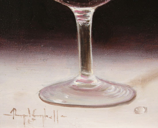 Raymond Campbell, Original oil painting on panel, Slice of Lemon Signature image. Click to enlarge