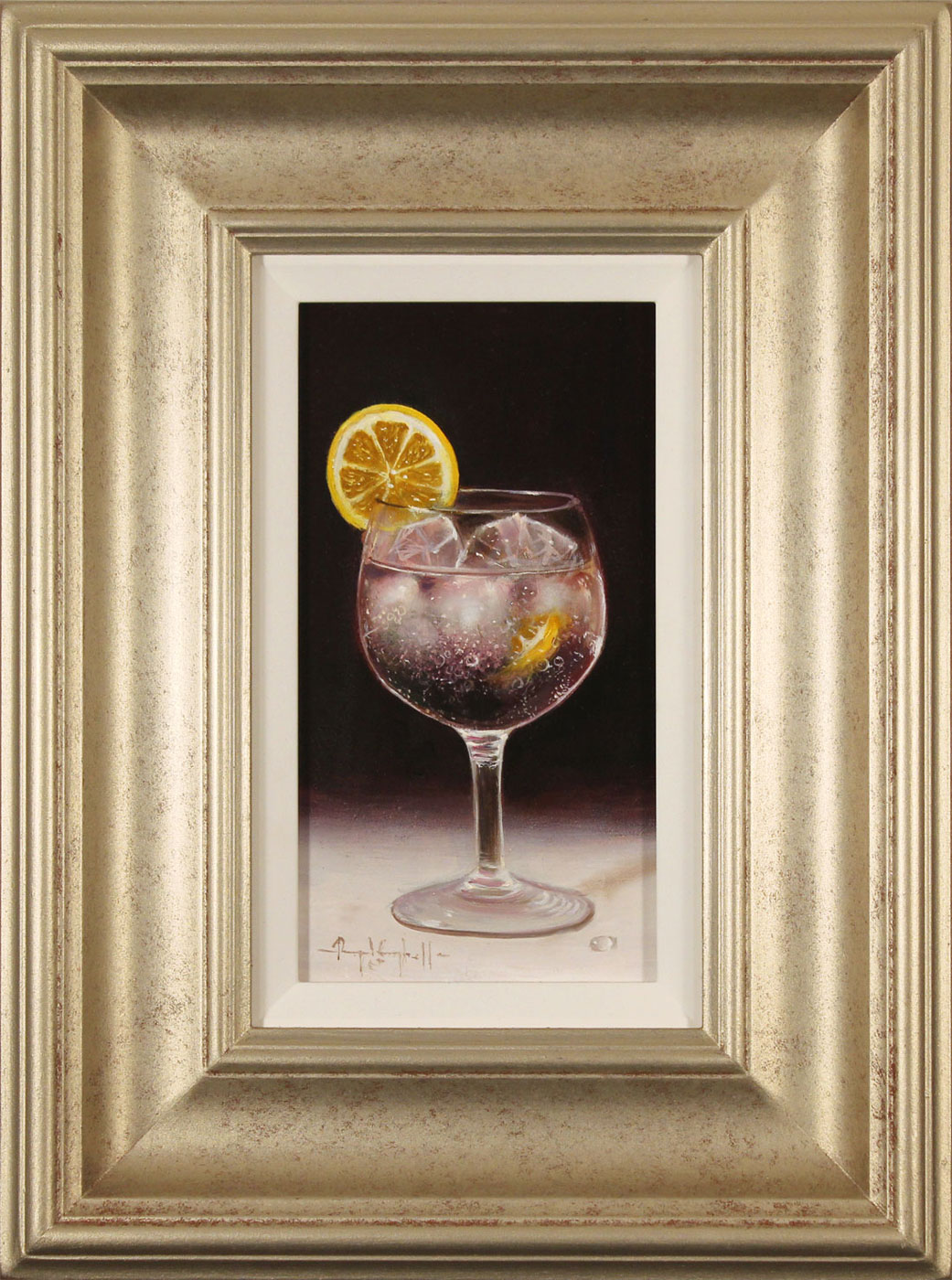 Raymond Campbell, Original oil painting on panel, Slice of Lemon. Click to enlarge
