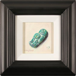 Raymond Campbell, Original oil painting on panel, Green Jelly Baby